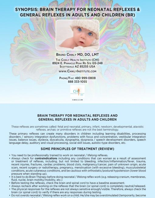 Brain Therapy for Neonatal Reflexes and General Reflexes in Adults and Children (BRB) Flip Booklet